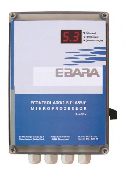 EBARA ECONTROL CLASSIC 400V | Pump Control Panel for 1x Pump