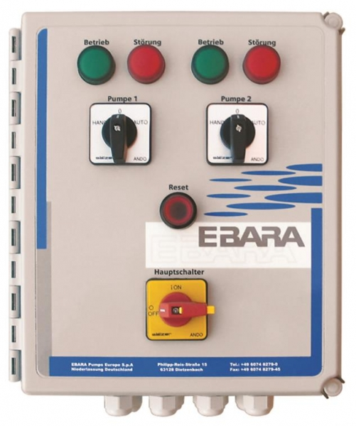 EBARA ECONTROL COMFORT 400/II - 1.6 - 2.5 A | Pump Control Panel for 2 Pumps
