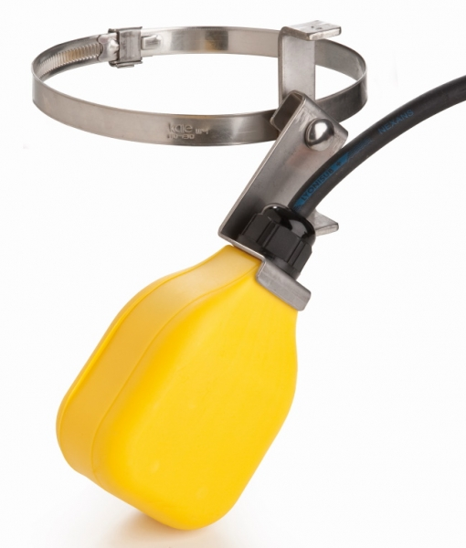 Float-Switch | 3m cable | with stainless-steel clamp & lever
